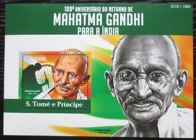 Svatý Tomáš 2015 Mahátma Gándhí Mi# Block 1101 Kat 10€ 2298