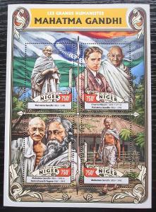 Niger 2016 Mahátma Gándhí Mi# 4302-05 Kat 12€ 2298
