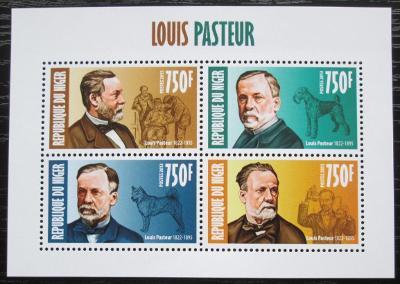 Niger 2013 Louis Pasteur, biolog Mi# 2333-36 Kat 12€ 2300
