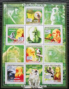 Komory 2009 Charles Darwin Mi# 2224-29 Kat 11€ 2300