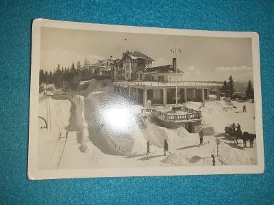 Pohlednice z roku 1949 MF Vysoké Tatry  - Štrbské Pleso,prošlé.