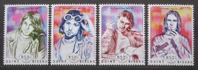 Guinea-Bissau 2014 Kurt Cobain, Nirvana Mi# 7301-04 Kat 14€ 2301