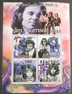 Guinea-Bissau 2011 The Doors, Jim Morrison Mi# 5278-81 Kat 13€ 2301