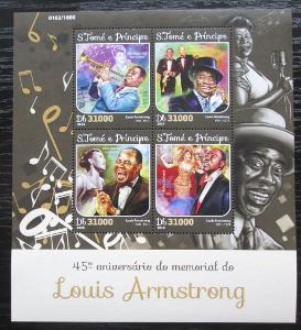 Svatý Tomáš 2016 Louis Armstrong Mi# 6586-89 Kat 12€ 2302