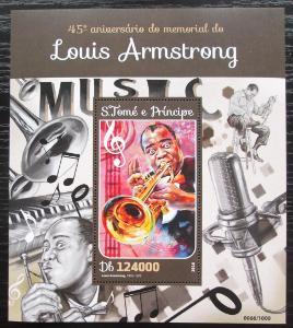 Svatý Tomáš 2016 Louis Armstrong Mi# Block 1167 Kat 12€ 2302