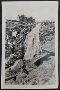 Trutnov Krkonoše Labský vodopád 1284 m. Rekreační oblast ROH