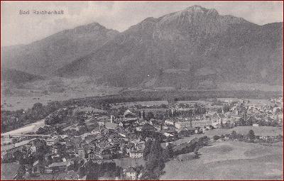 Bad Reichenhall * pohled na město, hory, Alpy * Německo * Z1564