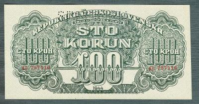 100 korun 1944 serie AE perf. stav UNC