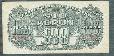 100 korun 1944 serie HM NEPERFOROVANA