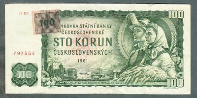 100 kčs 1961 KOLEK serie G83