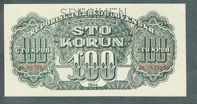 100 korun 1944 serie AB perf. stav UNC
