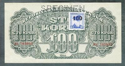 100 korun 1944 KOLEK serie MA perf. stav UNC