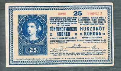 25 korun 1918 serie 3028