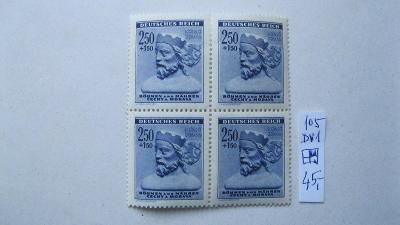 BuM - čistý čtyř blok známek  katal. číslo 105 s DV 1