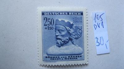 BuM - čistá známka  katalogové číslo 105 s DV 1