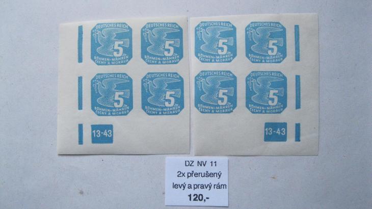 BuM - L + P čtyř blok novin. známek katal. číslo NV 11  s DZ  13 - 43 - Filatelie