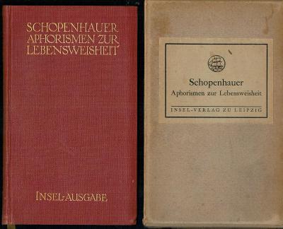 Schopenhauer: Aphorismen zur Lebensweisheit (Aforismy k moudrosti)