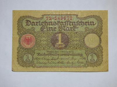 1 Mark 1920, z oběhu, velmi hezká