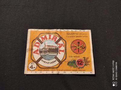 Pivní etiketa Admirál světlý ležák