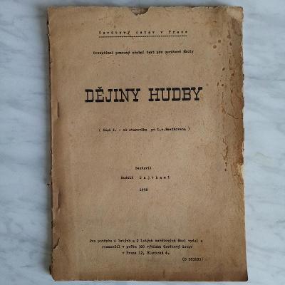 Dějiny hudby, učebnice, 1958