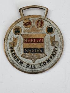 MOBILOIL SPHINX, VACUUM OIL COMPANY. Originál starožitnost pro štěstí.