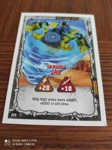 Ninjago Kartička Spinjitzu Jay