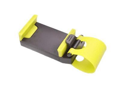Držák na volant pro mobil do auta žlutý 0360