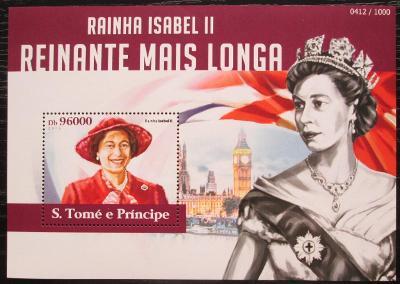 Svatý Tomáš 2015 Královna Alžběta II. Mi# Block 1107 Kat 10€ 2316