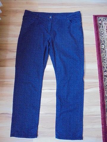 Kalhoty modré s drobným modrým vzorem zn.: Gina Benotti 46 48 L XL