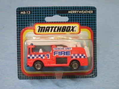 MATCHBOX  - MERRYWEATHER SNORKEL FIRE ENGINE