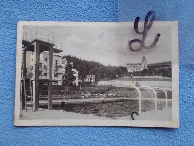 Zlín Lázně Luhačovice Koupaliště plovárna sanatorium Vlasta