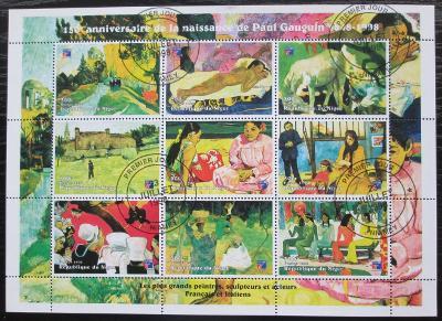 Niger 1998 Umění, Paul Gauguin Mi# Mi# N/N 2314