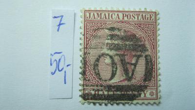 Jamajka - razítkovaná známka katalogové číslo 7