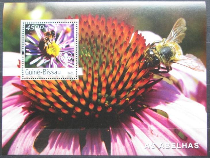 Guinea-Bissau 2003 Včely Mi# Block 446 Kat 18€ 2320 - Filatelie
