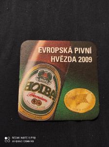 Holba Evropská pivní hvězda 2009 tácek