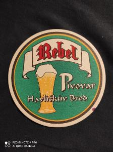 Rebel  Pivovar Havlíčkův Brod tácek