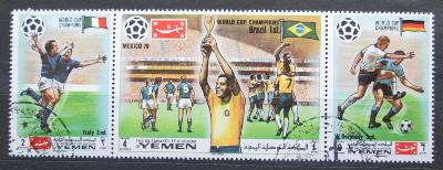 Jemen 1970 MS ve fotbale Mi# 1150-52 2311
