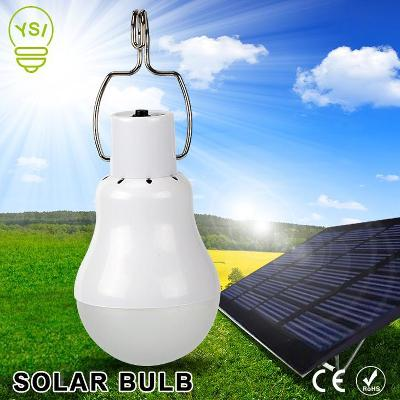 LED žárovka nabíjecí bílá + solární nabíječka