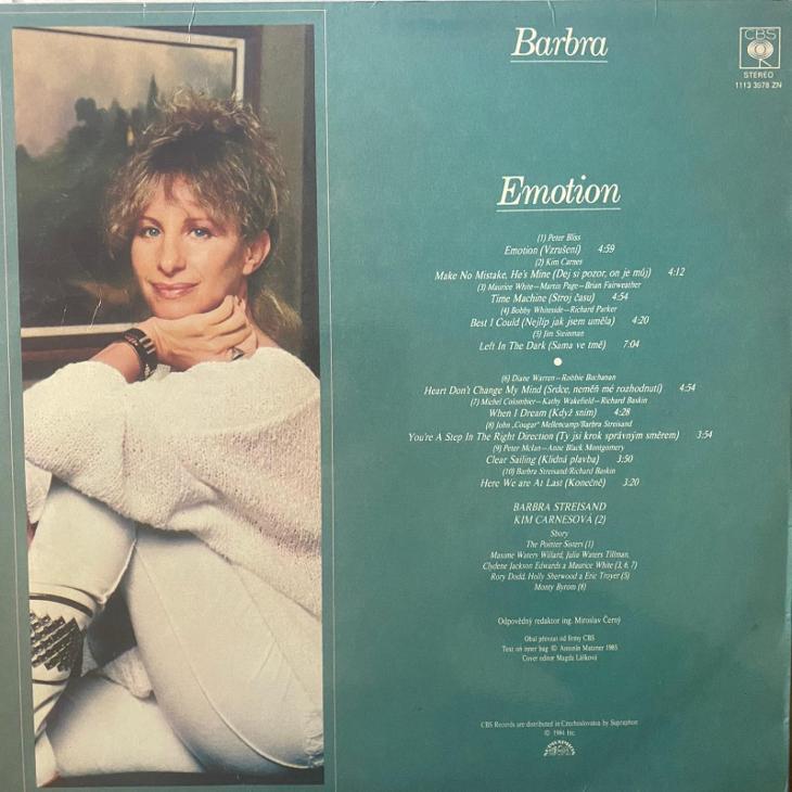Barbra – Emotion - LP vinyl - Hudba