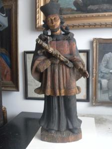 Dřevořezba Jana Nepomuckého - cca 1730.