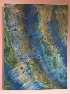 Abstraktní obraz na plátně - Originál - Akryl