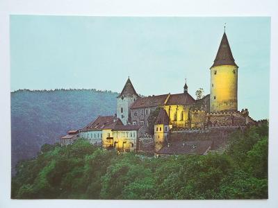 hrad Křivoklát, Rakovník - ve večerním osvětlení