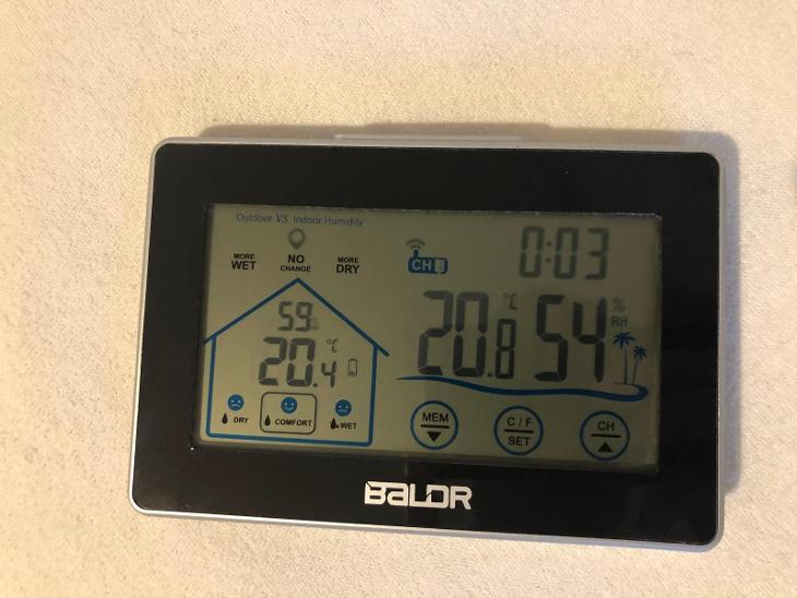Meteostanice Baldr s bezdrátovým venkovním čidlem - Malé elektrospotřebiče
