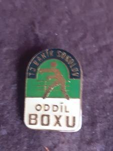 odznak TJ Baník Sokolov  - oddíl boxu