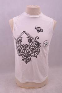 Pánské triko bez rukávu s aplikací vel.S/M (6666M)