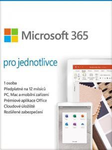 Microsoft (Office) 365 pro jednotlivce - 1 rok + faktura