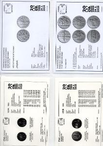 kompletní sada OM 2020 UNC+ 2 albové listy s jub. kartami ENA (c) 2021