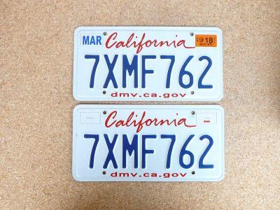 USA SPZ, California pár originál...