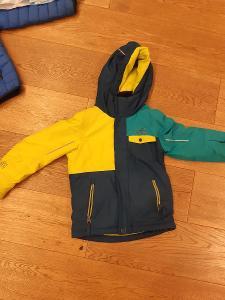 set - dětská bunda 116 + oteplováky