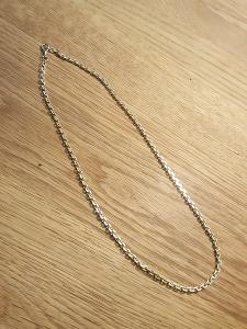 Zlatý silný masivní řetěz, dl. 57cm x tl. 5mm, 41,12gr Au 14k